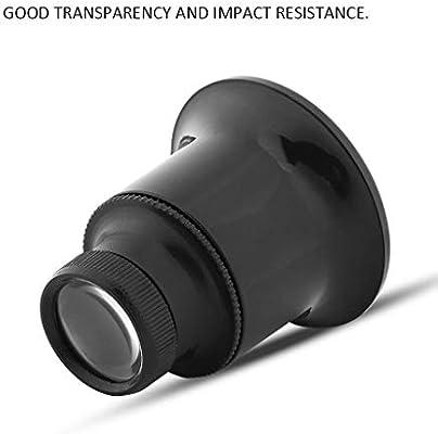 Huhua Lupa monocular doble lupa lente reloj reparación herramienta ...