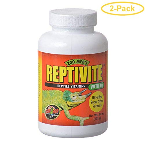 Zoo Med Reptivite Reptile Vitamins with D3 8 oz - Pack of 2