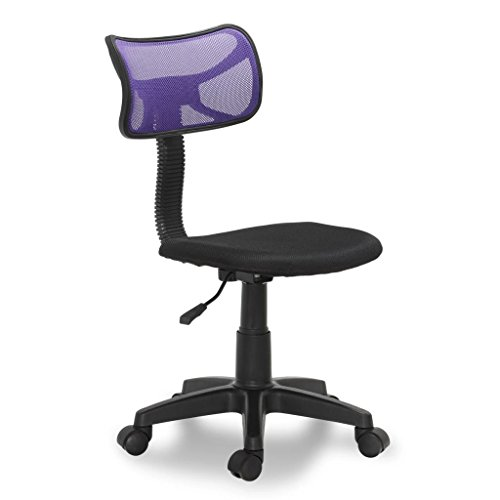 Plastic Office Chair Black and Purple 30.3''-35'' Office Chair 360 Degree Swivel Task Chair Adjustable in Height to Suit Personal Preference by LicongUS