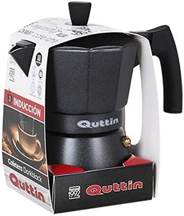 Cafetera italiana QUTTIN DARKBLACK Inducción Negro (12 tazas ...