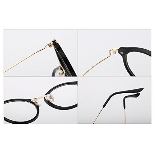 métal de Mode Noir Rétro myopie Homme Lunettes Frame lunettes résine Sable Huicai cadre lentilles Femme Round q0On60zY