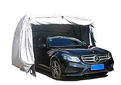 Ikuby Waterproof SUV Carport, Car Shelter, Car Canopy, Car Garage, Car shed, Car House, Car Park, Foldable, Retractable, Lockable, Durable Shelter