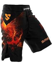 SMMASH Diablo Pantalones Cortos de Deporte para Hombre para el Entrenamiento de MMA, BJJ, UFC, Agarre, Krav MAGÁ