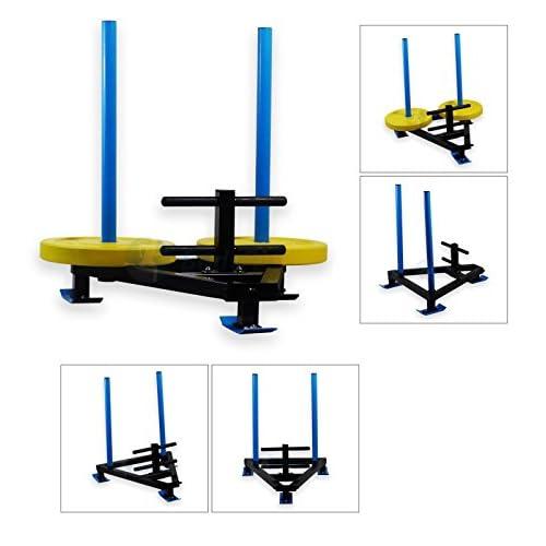 BodyRip Unisexe haltérophilie Course à Pied Gym exercice fitness Luge, Noir/bleu, 80x 76x 96cm