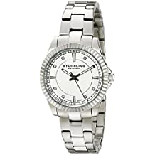 Stuhrling Original Women's 408LL.01 Symphony Analog Display Swiss Quartz Silver Watch