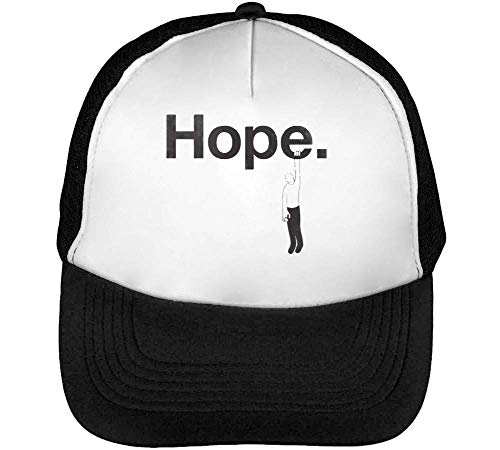 Snapback Blanco Negro Funny Beisbol Hope Gorras Hombre wg8q7Cv