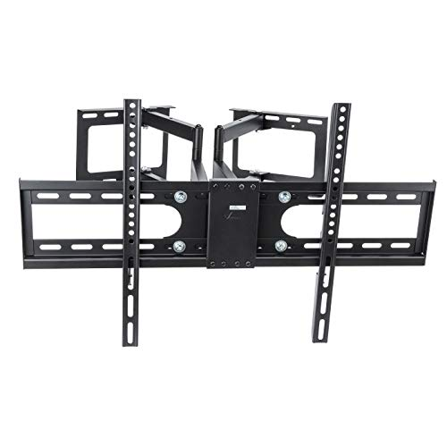Vemount Corner TV Wall Mount Bracket Full Motion for 30-65 inch Samsung LG Vizio Sony Sharp LCD LED OLED Plasma Flat Screen Panel Smart TV with Swivel Articulating Arms up to VESA 600x400mm and 99lbs