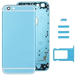 Sef Shop # 479816Full Assembly Replacement Housing Carcasa for iphone 6, including Back Carcasa & Card Tray & Volume Control Key & Power Button & Mute Switch Vibrator Key (Blue)