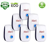 Ultrasonic Pest Repeller,Pest Reject,Pest Repeller Plug In,Ultrasonic Pest Repellent,Pest Control Repeller in Indoor Outdoor,Get Rid of Insect,Mice,Rats,Spiders,Bed Bugs,Roaches,Child&Pet Safe(6 Pack)
