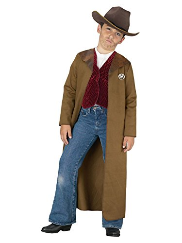 Cowboy Child Costumes (Old West Sheriff Kids Costume, L/12-14, Brown)