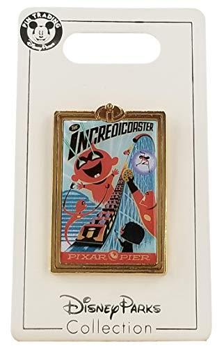 Disney Pin - DCA - Pixar Pier - Incredicoaster Poster