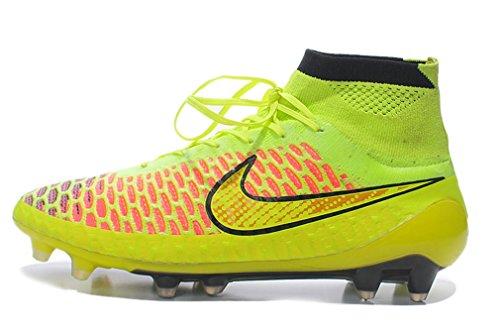 Herren Magista obra TPU FG–voltmetallic Gold coinblackhyper High Top Fußball Schuhe Fußball Stiefel