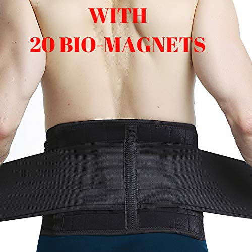MEDIZED® Magnetic Back Brace Lower Back Pain Relief Support Belt for Sciatica, Scoliosis or Herniated Disc (Large)