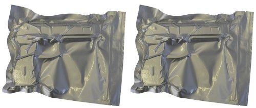 Fairly Odd Treasures Anti Corrosion Vacuum Hand Gun Storage Bag Zipper Seal (Pack of 2), 9x12-Inch from Fairly Odd Treasures LLC