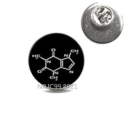 maoqunza Caffeine molecule Brooch, caffeine Pin, caffeine Brooch, caffeine jewelry, caffeine molecule Pin, coffee, Pin.XT033 -