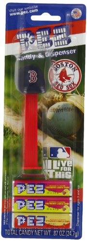 PEZ MLB Boston Red Sox, 0.87-Ounce Candy Dispensers (Pack of -