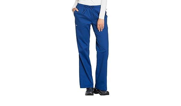 81c74bad758 Amazon.com: Ww Flex By Cherokee Workwear Women's Mid-Rise Moderate Flare  Scrub Pant Medium Galaxy Blue: Clothing