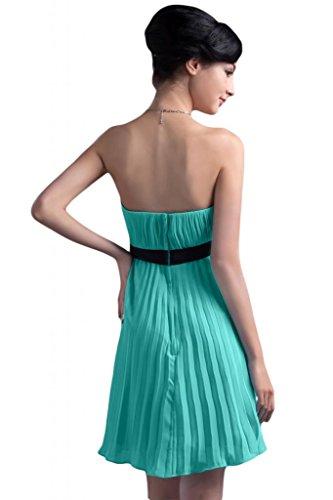 semplice Vestito feste vestito spalline abito Sunvary per da damigella d'onore Verdone senza corto Chiffon REdaqqw1
