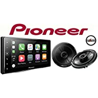 Pioneer MVH-1400NEX 6.2 Digital Multimedia Receiver w/ Apple CarPlay and a Pair of Pioneer TS-G1645R 6-1/2 2-way Car Speakers and a SOTS Air Freshener