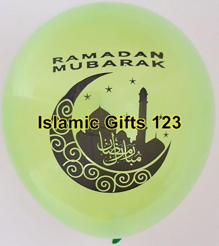 Ramadan MUBARAK Decoration MOON Balloons-Wholesale lots-Super DEAL Ramadan Muslim Islamic holiday.-FAST DELIVERY from NY-US Seller-Islamic Gifts 123 Quran (40) ()