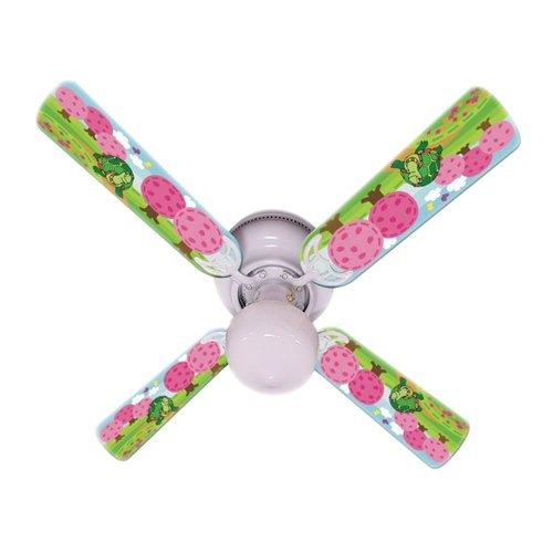 Ceiling Fan Designers Ceiling Fan, Kids Happy Traveler Turtle, 42″