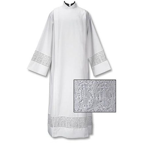 Latin Cross Lace Fnt Wrap Alb by Christian Brand (Image #1)