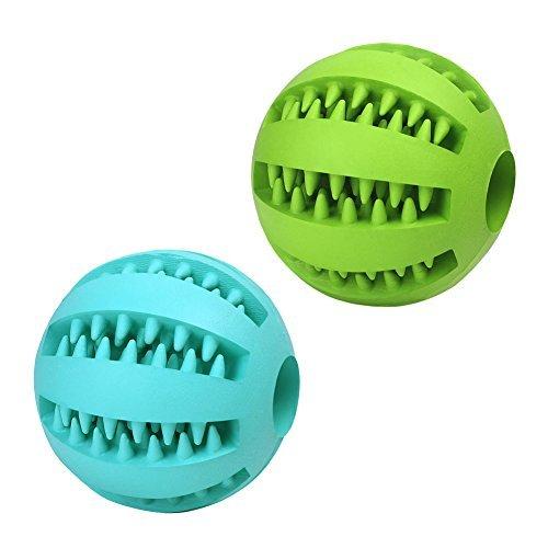UYIKU Pet Toy Balls Dog Chew Durable Dog Treat Balls Indestructible Pack of 2