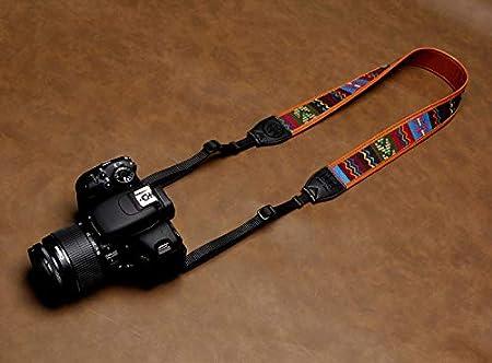 Vibrant Design Universal DSLR Strap C Avecell Vintage Camera Shoulder Strap Belt for All DSLR Camera Embroidered Vintage Multi Color Neck Belt