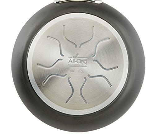 All-Clad 1 E7855264 HA1 Hard Anodized Nonstick Dishwaher Safe PFOA Free Stock Pot Cookware, 8-Quart, Black