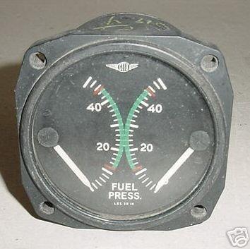 45-9339-P, Piper Aircraft Aztec - Apache Fuel Pressure Indicator -Rev (Piper Aztec Aircraft)