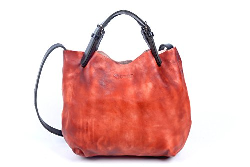 old-trend-hand-painted-eco-genuine-leather-dip-dye-mini-tote-cognac