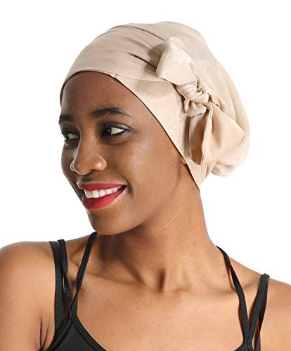 (Silk Hair Head Scarf Satin Bonnet Head Wrap Chemo Hat Turbans Headwear Sleeping Cap Headbands for women)