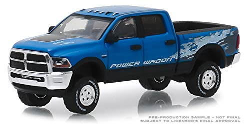 - Greenlight 2016 Dodge Ram 2500 Power Wagon Pickup Truck Blue Streak Pearlcoat \Hobby Exclusive\ 1/64 Diecast Model Car