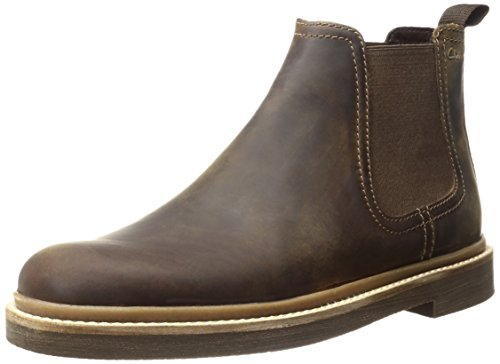 Clarks Men's Bushacre up Chelsea Boot, Beeswax, 10.5 M US 26122632