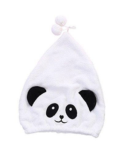 Super Absorbent Adult Drying Hair Cap Quick-drying Dry Hair Cap Cute White Panda