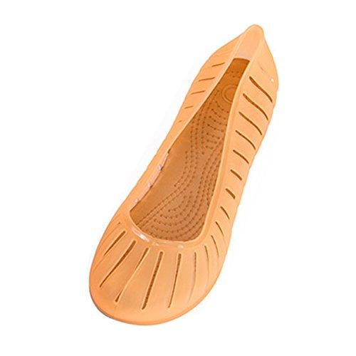 0721 Confort de A17 Amarillo para Bailarinas Gaorui de de Piso Flat Ballet Mujer Jalea Zapatos EqBwO8H