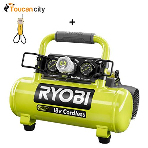 Toucan City Voltage Tester and Ryobi 18-Volt ONE+ Cordless 1 Gal. Portable Air Compressor (Tool Only) P739