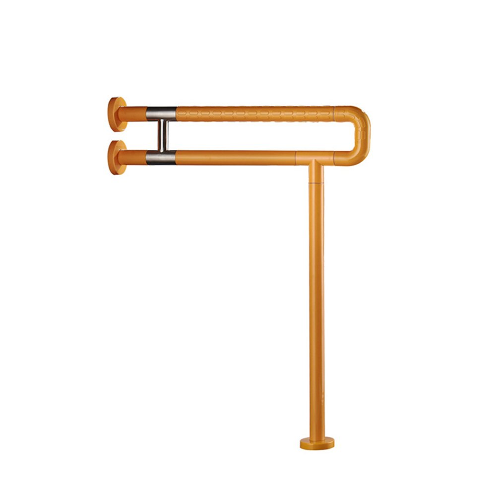201 stainless steel Toilet Rails / Safety Rails for the Elderly / Handicapped Toilet Toilet Rails / Bathroom Handrails / (600*135mm) ( Color : Yellow )