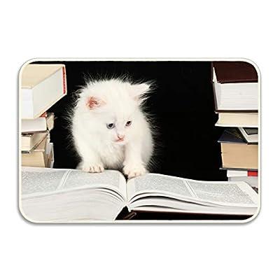 Kerr Juliet White Kittens Non-Slip Rubber Sole Entrance Door Mat Doormats