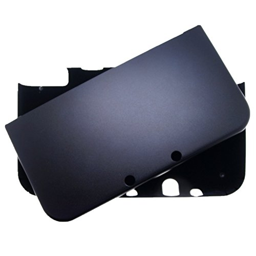 NEW 3DS XL CASE, For Nintendo NEW 3DS XL, N3DS XL, FULL Aluminum Metal Case Protector Cover + Free Screen Protectors (Black)
