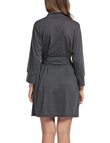 Kimono Vestaglie Donna Camice S Corto V Scollo da Nightdress Notte Pigiama XXL e a Unibelle Notte Grigio da Cotone 5qIHCzW