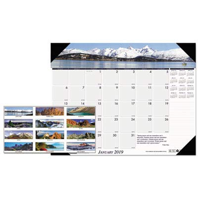 HOD176 - Mountains of The World Photographic Monthly Desk Pad Calendar