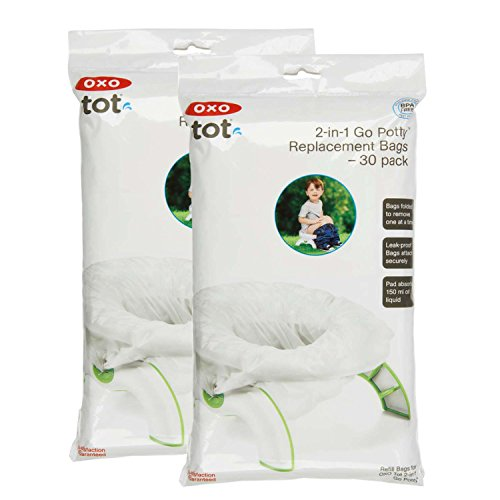 OXO Tot 2-in-1 Go Potty Refill Bags, 60 Count (1 Seat Bag)