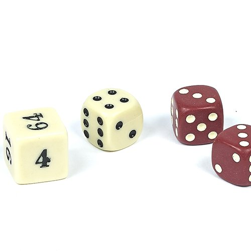 Backgammon Dice-Brown 1/2