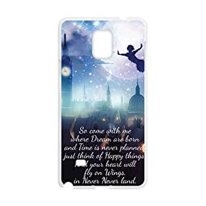 Peter Pan Flying Quotes Pattern Plastic Case For Samsung Galaxy Note4