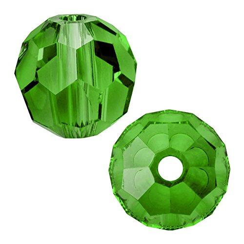 Swarovski Crystal, #5000 Round Beads 8mm, 8 Pieces, Fern
