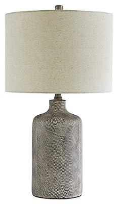 Ashley Furniture Signature Design - Linus Ceramic Table Lamp - Antique Black