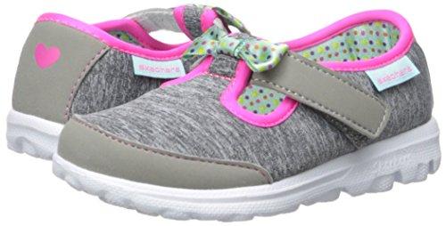 Skechers Kids Go Walk Bitty Bow Sneaker (Toddler/Little Kid),Gray/Multi, by Skechers (Image #6)