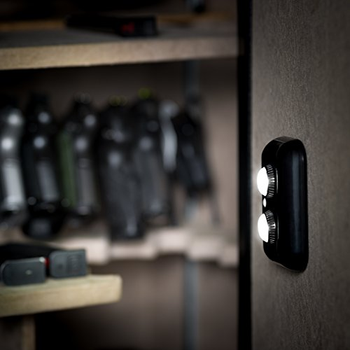 ILLUMISAFE LIGHTS Gun Safe Light with PIR Motion Sensor Light Activation - Two Adjustable and Rotatable LED Lens for Directional Lighting Inside Your Safe