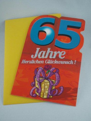 Hall Mark, tarjeta de felicitación, cumpleaños, 65 años, con ...